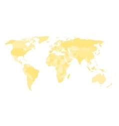 Blank political map of world vector