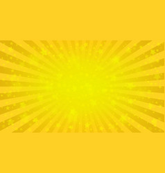 Bright yellow starry background vector
