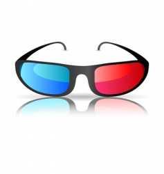 cinema glasses vector image