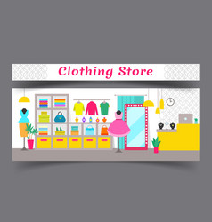 clothing store composition vector image