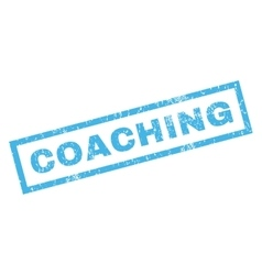 Coaching Rubber Stamp vector