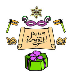 Color graphic elements for holiday purim vector