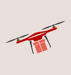 Concept for delivery service delivery drone with vector