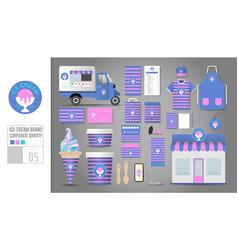 corporate identity template set 5 logo concept vector image
