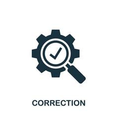 correction icon symbol creative sign from vector image