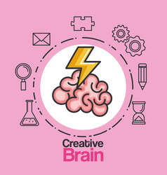 creative brain idea innovation brainstorm mind vector image