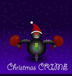 crime on christmas eve vector image