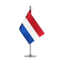 dutch flag hanging on the metallic pole vector image
