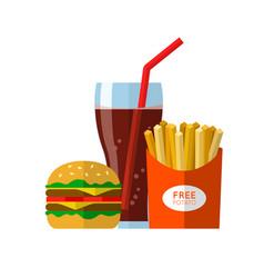 Fast food eat vector