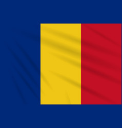 Flag romania swaying in the wind realistic vector