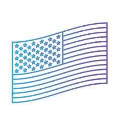 flag united states of america flat side design in vector image