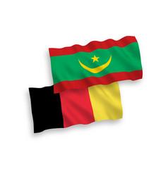 Flags belgium and islamic republic vector