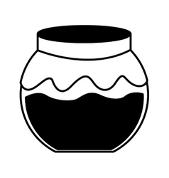 Fruit conserve in jar icon vector