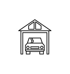 Garage car icon can be used for web logo mobile vector