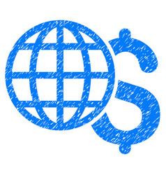 Global finances grunge icon vector