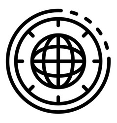 global startup icon outline style vector image
