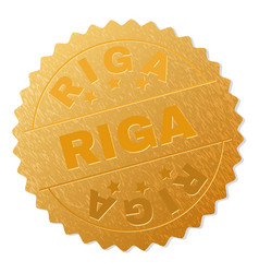 Gold riga award stamp vector