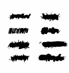 grunge ink splat brush vector image