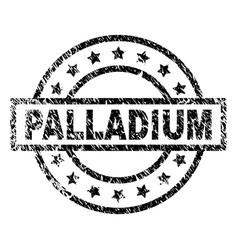 Grunge textured palladium stamp seal vector
