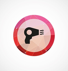 hairdryer circle pink triangle background icon vector image