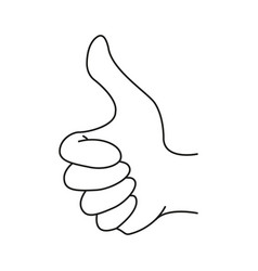 hand like icon vector image
