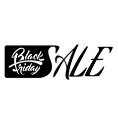 inscription black friday sale vector image