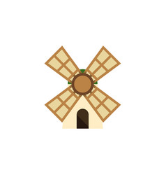 Isolated power flat icon windmill element vector