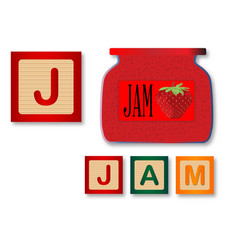J is for jam vector