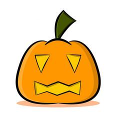 jack o lantern pumpkin face vector image