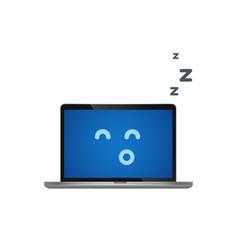 laptop on sleep mode isolated vector image