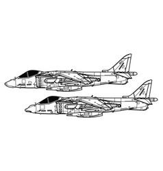 Mcdonnell douglas av-8b harrier ii vector