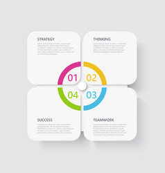 modern 3d infographic template with 4 steps vector image