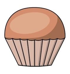 Muffin cartoon dessert design vector
