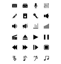 Music Solid Icons 1 vector
