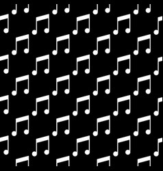 musical note seamless pattern on dark vector image