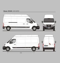 Nissan nv400 cargo delivery van l3h3 2015 vector