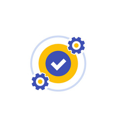Optimization optimize icon on white vector