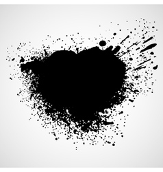 Paint stains black blotch background vector