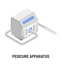 Pedicure apparatus isolated electric appliance vector