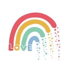 Rainbow for a t-shirt design vector