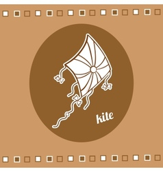 Retro kite vector image