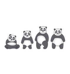 set pandas vector image