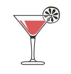 Simple cocktail glass vector