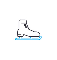 skating linear icon concept skating line vector image
