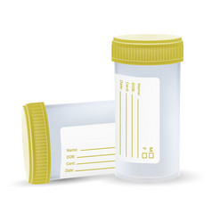 the sterile plastic container for medical analyzes vector image