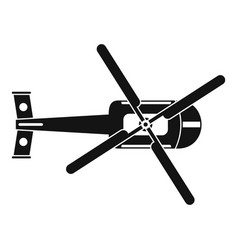 top view helicopter icon simple style vector image