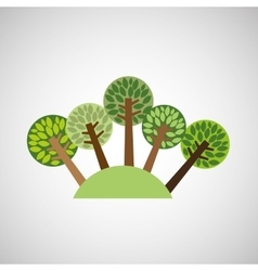 tree forest nature vector image