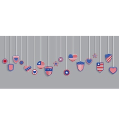 USA symbols on ropes vector image vector image