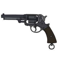 vintage military revolver vector image