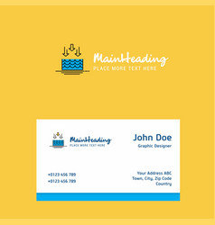 Water evaporation logo design with business card vector